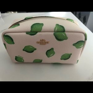 Nwt coach pouch/make up bag with lime print!